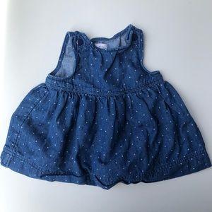 Baby Gap | Girls Polka Dot Denim Dress